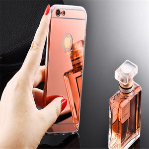 iPhone Luxury Mirror Phone Case For X XS MAX XR 5 6 6S 7 8 Plus SE Cover - Daily Tech Bargains