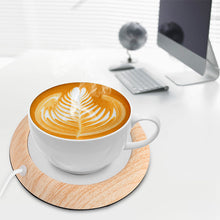 Load image into Gallery viewer, USB Wood Grain Cup Mug Warmer Heater Coaster - Daily Tech Bargains