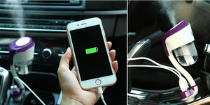 Car Air Humidifier, Air Freshener with 2 USB Car Charger Ports Car Aroma Oil Diffuser Aromatherapy - Daily Tech Bargains