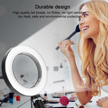 "Load image into Gallery viewer, 6""/10"" Dimmable LED Selfie Ring Light for Live Studio Makeup Photography with Mini Tripod Phone Clip - Daily Tech Bargains"