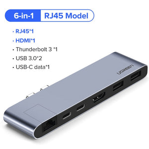 Ugreen USB C HUB for MacBook Pro / Air Thunderbolt, HDMI, USB 3.0, Ethernet, and Power Delivery - Daily Tech Bargains