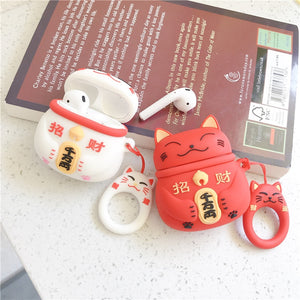 Lucky Cat Silicone Case for Apple Airpods - Daily Tech Bargains