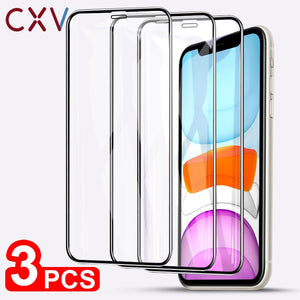 3- PACK 9H Tempered Glass Case Friendly Screen Protector For iPhone 11, 11 Pro, XR, XS, X, 8, 7, 7 Plus, 7, 6, 6S, 5 SE S C - Daily Tech Bargains