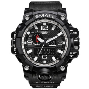 SMAEL Men Sports Watch Dual Display Analog Digital LED Quartz Wristwatch Waterproof for Swimming, Military Style Watch - Daily Tech Bargains