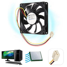 Load image into Gallery viewer, LEORY DC 12V 3-Pin 80mm x 15mm Computer Case CPU Fan - Daily Tech Bargains