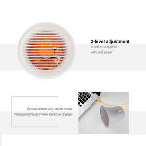 Baseus Mini USB Cooling Desk Fan for Homes and Office, 2-Speed Adjustable - Daily Tech Bargains