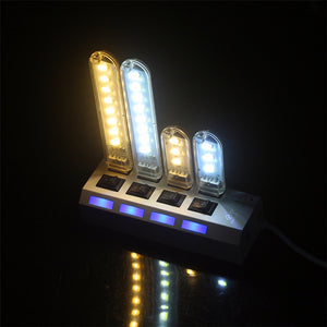 Portable Mini 3-LED USB Night Lamp For Outdoor Camping or Reading Light - Daily Tech Bargains