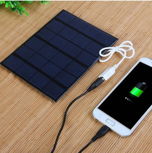 3.5W Solar USB Charger For Power Bank and Cell Phones - Daily Tech Bargains