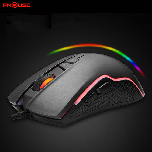 FMOUSE Wired Gaming Mouse RGB 2,500 Adjustable DPI - Daily Tech Bargains