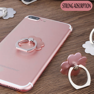 Universal Phone Finger Grip Ring, Oval, Four Leaf Clover Designs - Daily Tech Bargains
