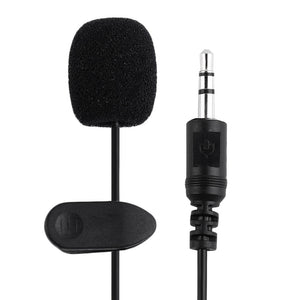 Portable External 3.5mm Hands-Free Mini Wired Collar Clip Lapel Microphone - Daily Tech Bargains