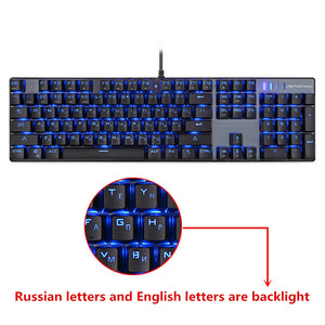 Motospeed Wired Gaming Mechanical Keyboard English or Russian Cherry MX Red or Blue Switches LED Backlit RGB Anti-Ghosting - Daily Tech Bargains
