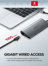 Load image into Gallery viewer, Ugreen USB C HUB SD Card, VGA, HDMI, USB 3.0, Ethernet, and Power Delivery ports! - Daily Tech Bargains