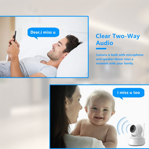 Wireless Home Security Camera / Baby Monitor with Two Way Audio, HD 1080P, 32GB, Night Vision - Daily Tech Bargains