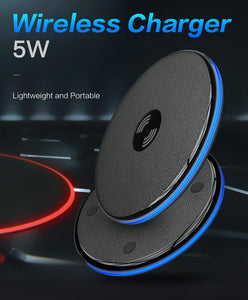 KISSCASE Fast Qi Wireless Charger For iPhone X/XS Max 8 Plus, Quick Charging For Samsung S10 S9 S8 - Daily Tech Bargains