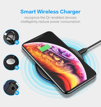 Load image into Gallery viewer, KISSCASE Fast Qi Wireless Charger For iPhone X/XS Max 8 Plus, Quick Charging For Samsung S10 S9 S8 - Daily Tech Bargains