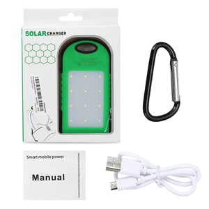 Portable Waterproof Solar Power Bank 12000mAh Dual USB Solar Battery with LED Flashlight - Daily Tech Bargains