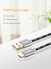 Load image into Gallery viewer, TOPK USB Type C Fast Charging Data Sync USB C Cable Various Lengths - Daily Tech Bargains