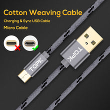 Load image into Gallery viewer, Micro USB Cable 2.4 A Fast Charging Data Sync Cable - Daily Tech Bargains