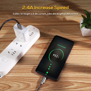 Micro USB Cable 2.4 A Fast Charging Data Sync Cable - Daily Tech Bargains