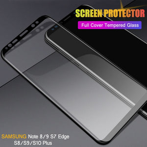9H Tempered Glass For Samsung Galaxy S10 E Plus, S9, S8 Plus, S7, Note 8 9 Screen Protector - Daily Tech Bargains