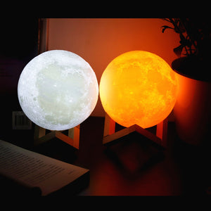 Moon Lamp, 3D LED Globe With Stand up to 16 Colors! - Daily Tech Bargains