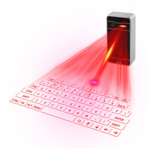 Portable Virtual Laser Keyboard Wireless Projection Keyboard For Phone, Tablet, Computer via Bluetooth - Daily Tech Bargains
