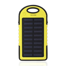Load image into Gallery viewer, Portable Waterproof Solar Power Bank 12000mAh Dual USB Solar Battery with LED Flashlight - Daily Tech Bargains
