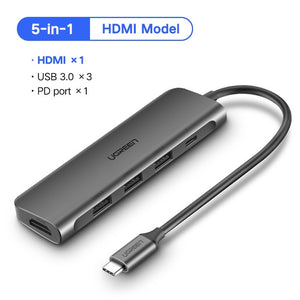 Ugreen USB C HUB SD Card, VGA, HDMI, USB 3.0, Ethernet, and Power Delivery ports! - Daily Tech Bargains