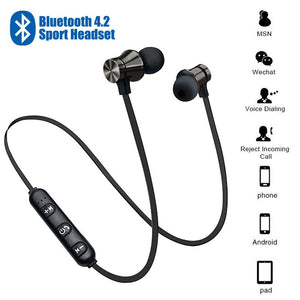Wireless Magnetic Bluetooth Earbuds With Microphone For Sports and Running IPX4 Waterproof - Daily Tech Bargains