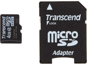 Transcend 4GB Micro SD microSDHC Flash Card with Adapter - Daily Tech Bargains