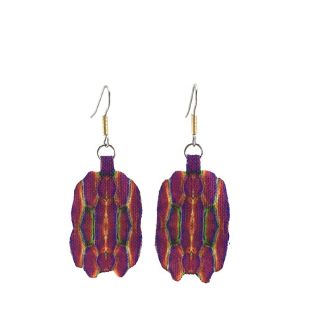 Purple Rounded Dangle Earrings