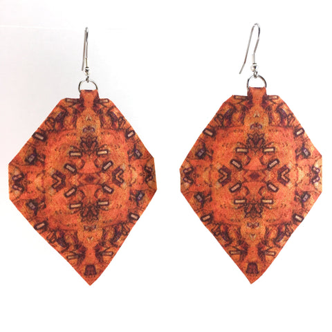 Orange Diamond Earrings Medium