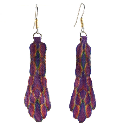 Purple Pattern Earrings Small
