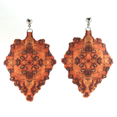 Orange Diamond Earring with Posts