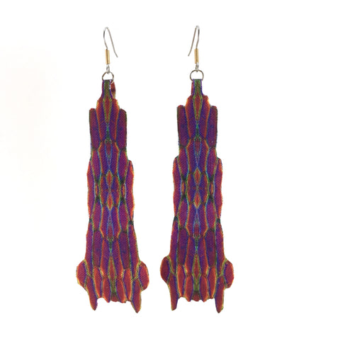 Purple and Pink Statement Earrings with Points