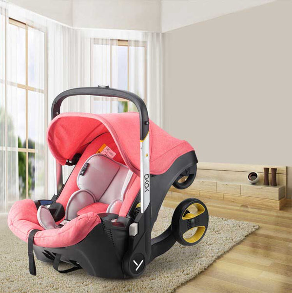 car seat baby stroller hybrid in living room