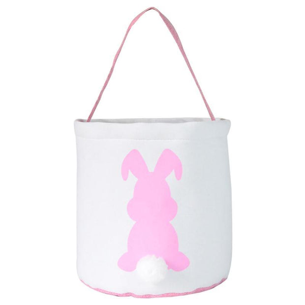 Pink Bunny Canvas Tote for Kids