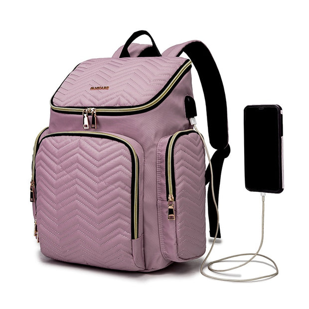 Diaper Bag with Cup Warmer USB