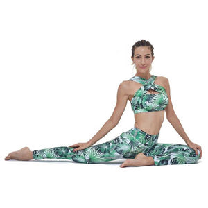 Floral Green Yoga Suit / Set
