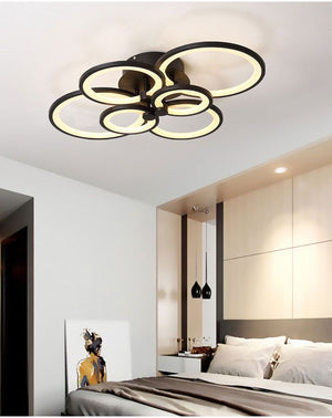 "Dream of Rings LED Ceiling Lights™ ""So bright and beautiful, adds great energy to my living room!"" - Vanessa"