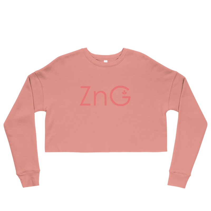 Energy Mauve Crop Sweatshirt