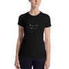 Deep Like The Sea White Women's T-shirt