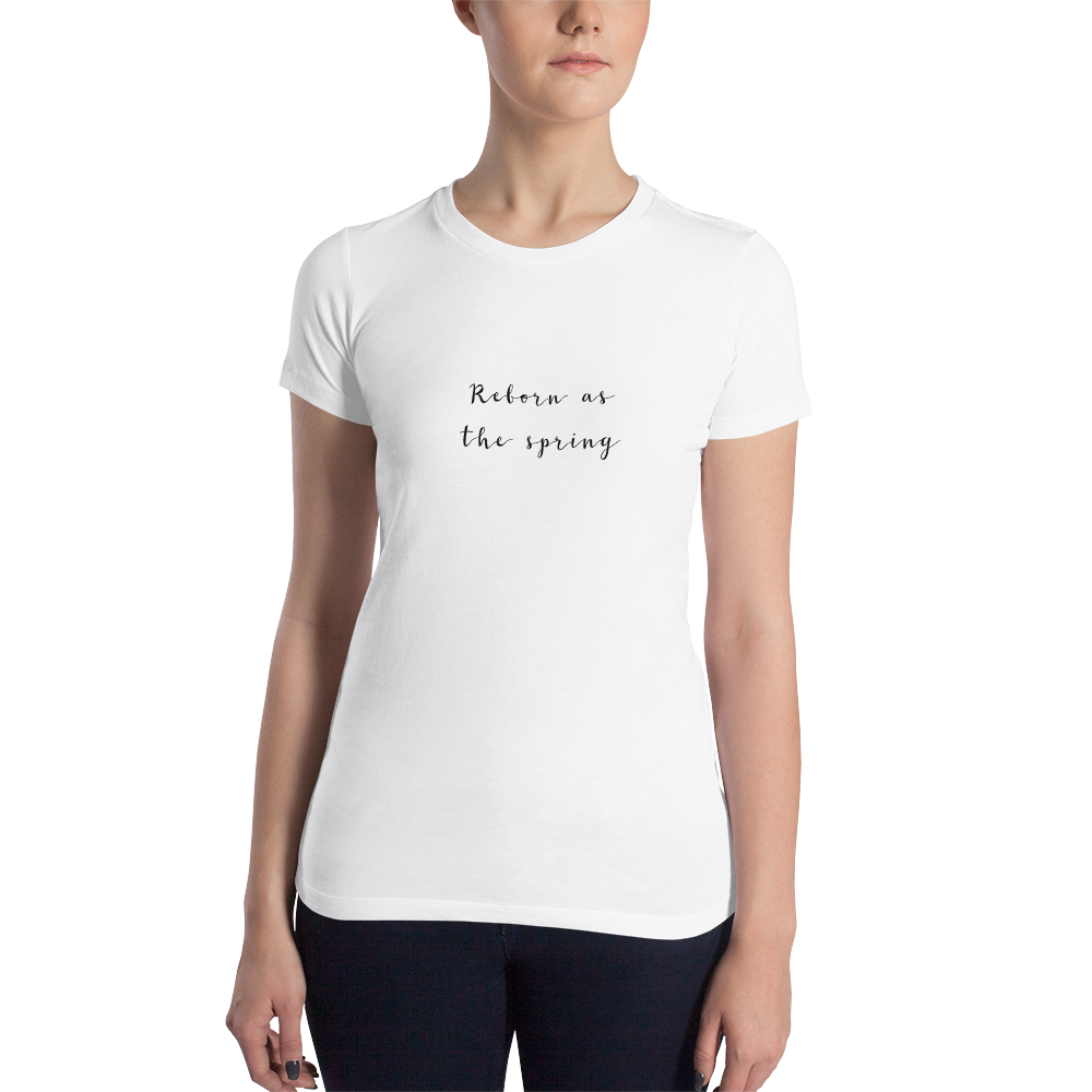 Reborn As The Spring Black Women's T-shirt
