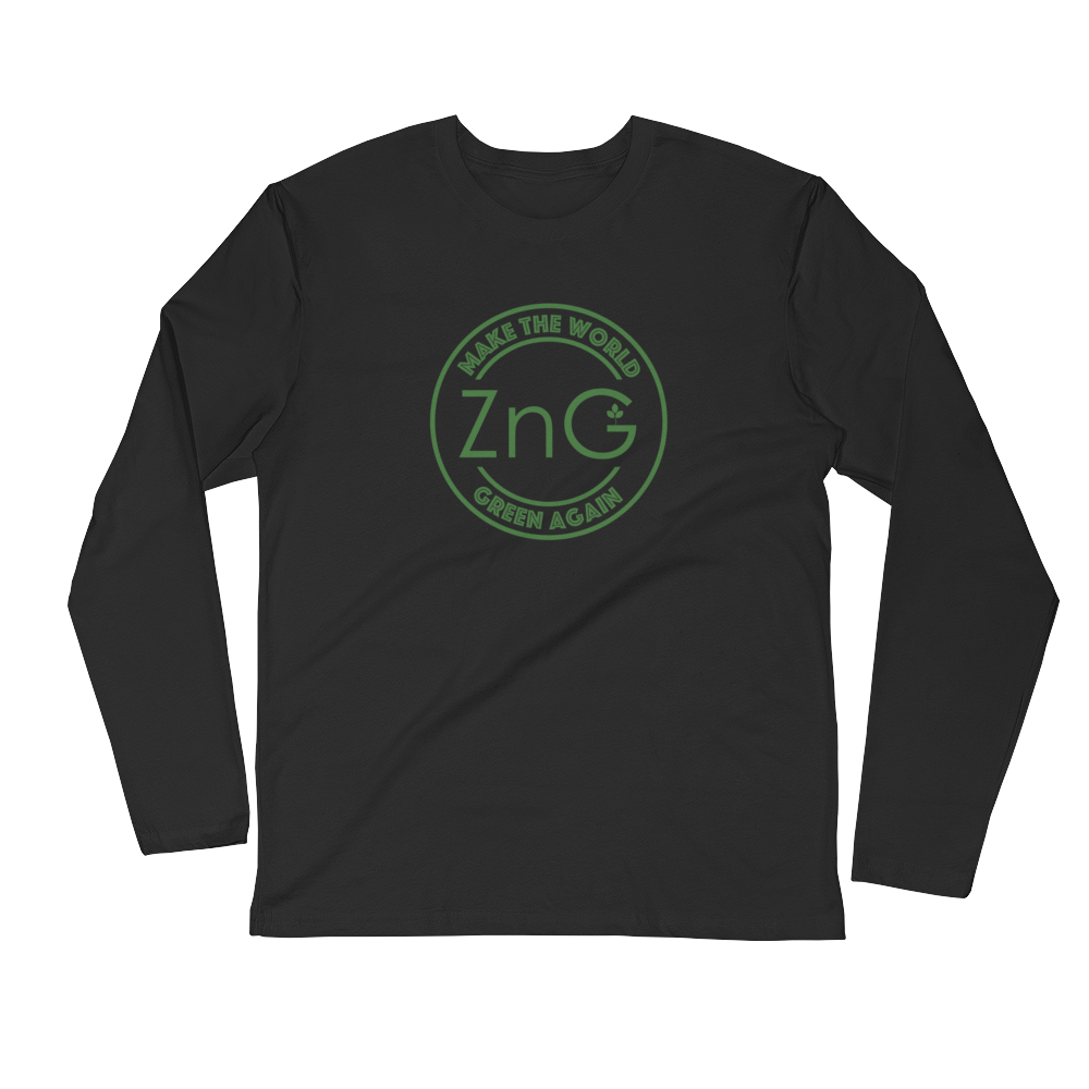 Make The World Green Again L/S Fitted T-shirt