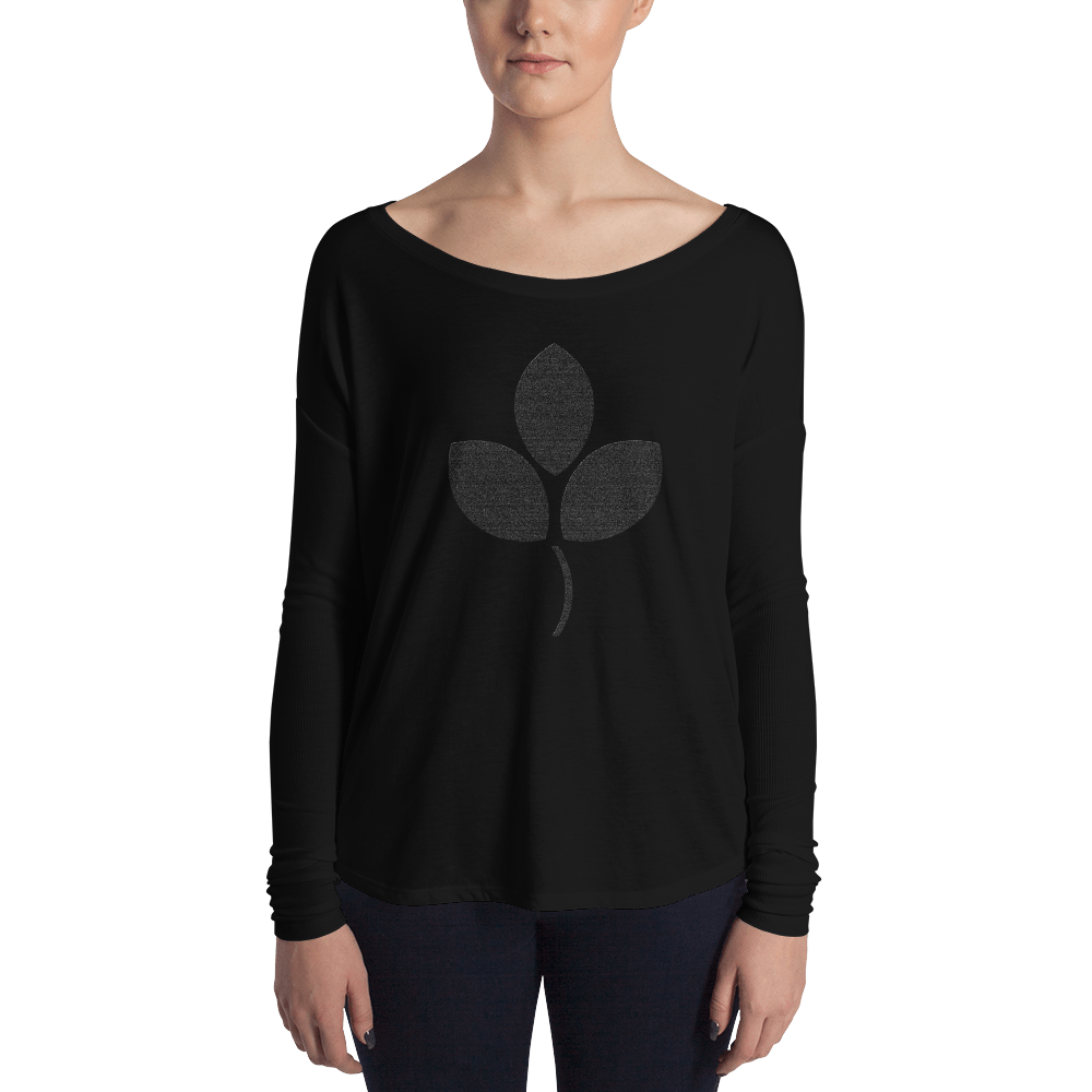 Black Flower Flowy T-shirt