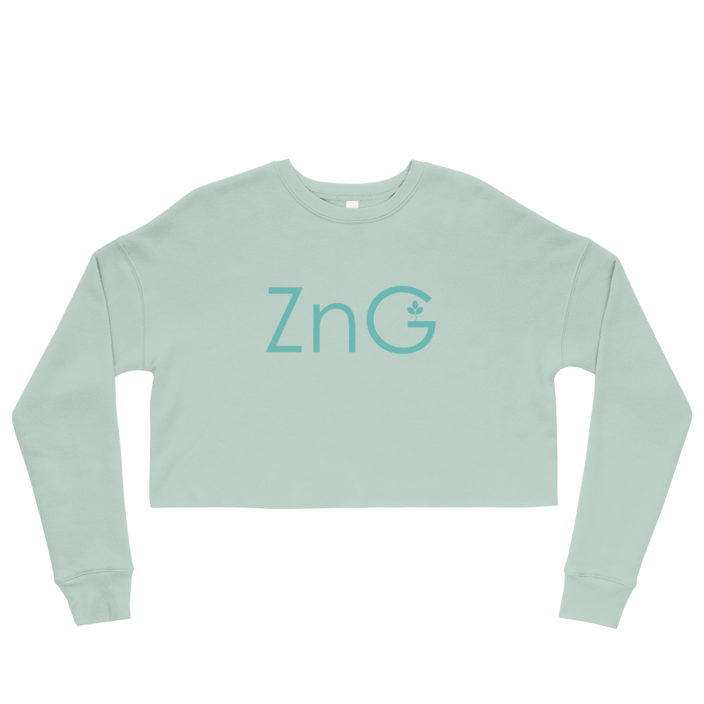 Energy Blue Crop Sweatshirt