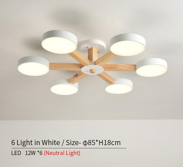 "Nordic Style Daisy LED Chandelier 220V™ - ""They remind me of lily pads and match my room perfectly!"" - Stephanie T."