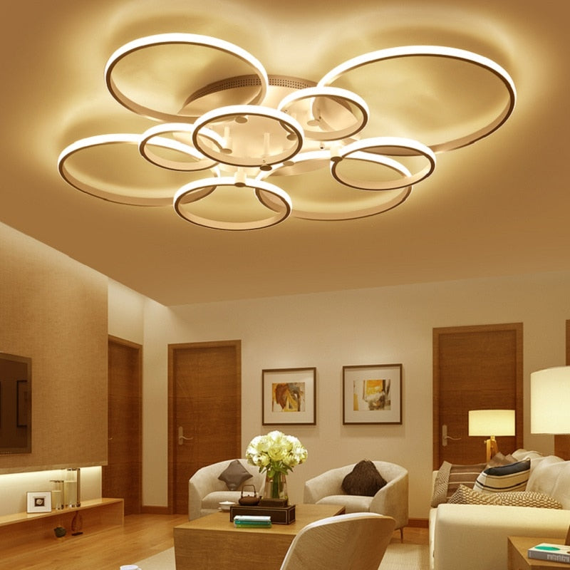 "Loops LED Ceiling Lights™ ""Installed it in my dining room, I just love the shapes!"" - Helen"