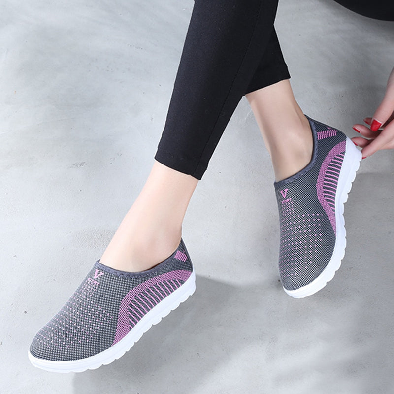 Women's Mesh Flat Shoes Cotton